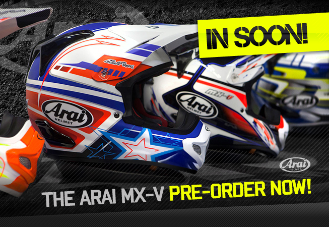 Arai MX-V Helmets at Dirtbikexpress!