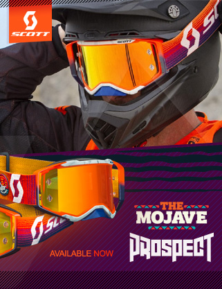 Scott Prospect Mojave Latest Motocross Goggle IN STOCK! at Dirtbikexpress