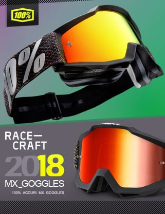2018 100 Percent Latest Motocross Goggle Range IN STOCK! at Dirtbikexpress