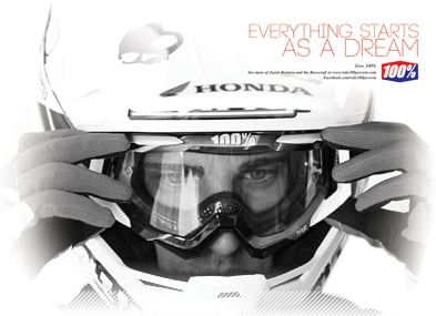 100% Racecraft Motocross Goggles - Everything starts as a dream
