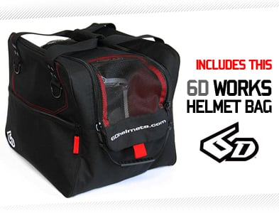 6D Motocross Helmets - FREE 6D Works Bag!