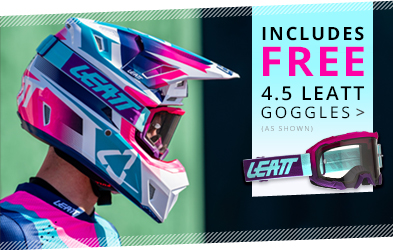Includes FREE Leatt 4.5 Goggles (as shown)