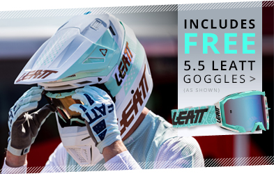 Includes FREE Leatt 5.5 Goggles (as shown)