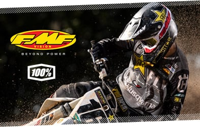 100% FMF Vision Goggles at Dirtbikexpress