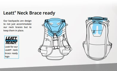 Leatt BackPacks are Neck Brace Ready