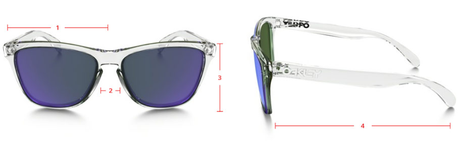 oakley frogskins different sizes