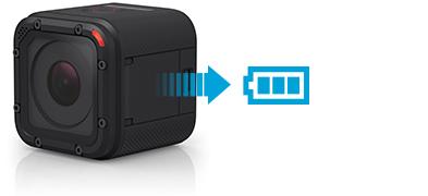 GoPro Hero4 Session Built-in battery.