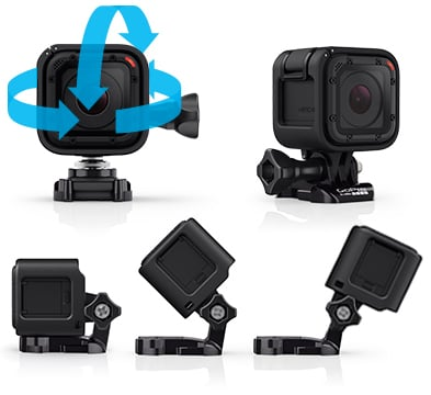 GoPro Hero4 Session Ultimate flexibility in the brackets