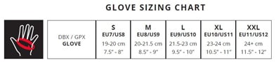 Leatt Glove Size Guide