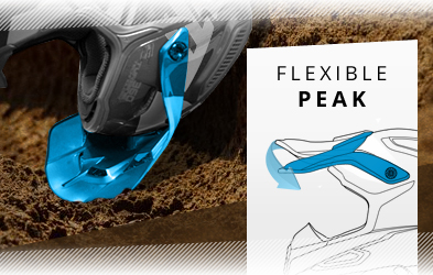 Flexible Helmet Peak Construction