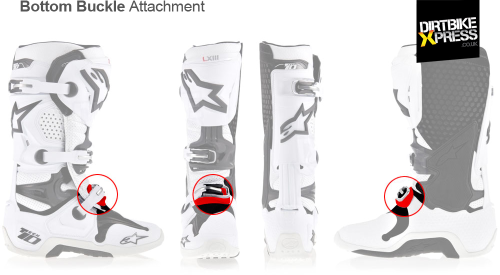 Alpinestars Tech 10 Bottom Buckle Base features