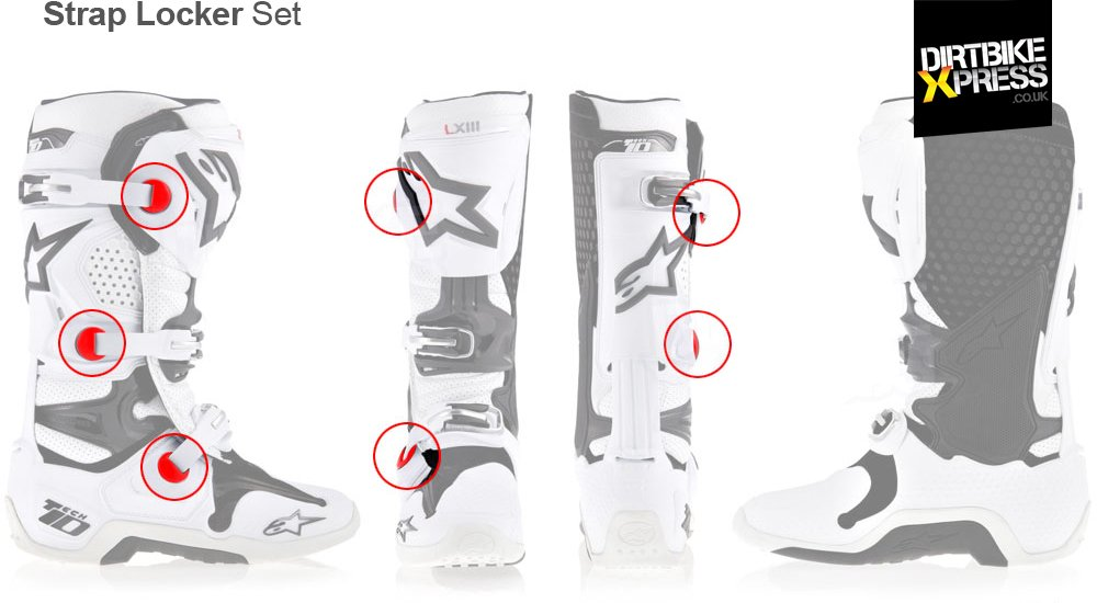 Alpinestars Tech 10 Strap Locker features