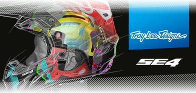 Troy Lee Designs SE4 Carbon Fibre Helmet