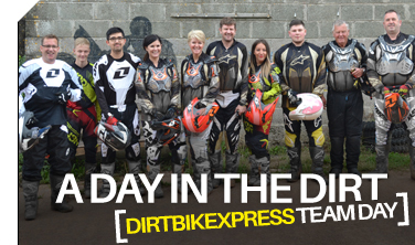 Dirtbikexpress team day on the bikes at Wheeldon!
