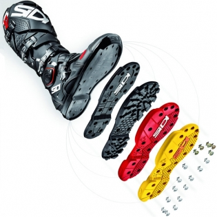 Sidi SMS Replacement Supermoto Soles - Red Image 2