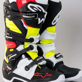 Alpinestars Tech 7 Boots - Black Red Yellow Image 2