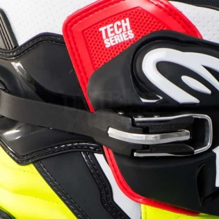Alpinestars Tech 7 Boots - Black Red Yellow Image 4