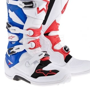 Alpinestars Tech 7 Boots - White Red Blue Image 4