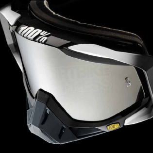100% Racecraft Goggles - Abyss Black Mirror Lens Image 2