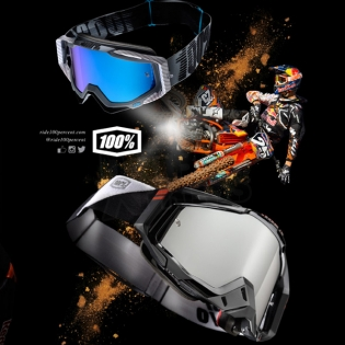 100% Racecraft Goggles - Abyss Black Mirror Lens Image 4
