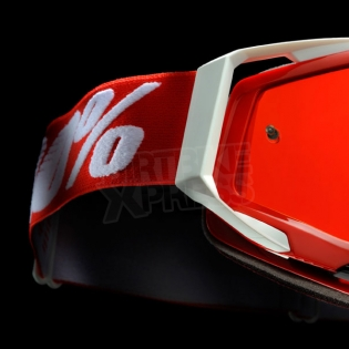 100% Racecraft Goggles - Fire Red Mirror Lens Image 2