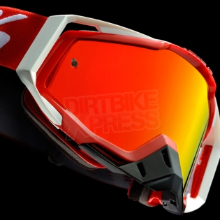 100% Racecraft Goggles - Fire Red Mirror Lens Image 4