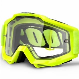 100% Accuri Goggles - Fluo Yellow Clear Lens Image 2
