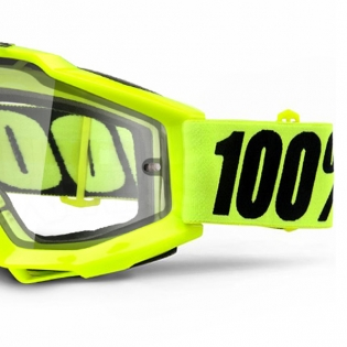 100% Accuri Goggles - Fluo Yellow Clear Lens Image 4