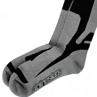 Alpinestars Tech Coolmax Socks - Grey Black White Image 4