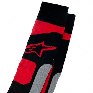 Alpinestars Tech Coolmax Socks - Grey Black Red Image 2