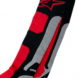 Alpinestars Tech Coolmax Socks - Grey Black Red Image 3