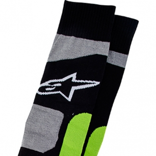 Alpinestars Tech Coolmax Socks - Grey Black Green Image 2