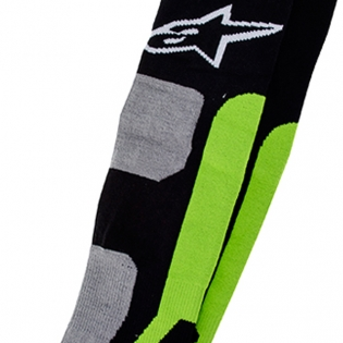 Alpinestars Tech Coolmax Socks - Grey Black Green Image 3