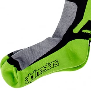 Alpinestars Tech Coolmax Socks - Grey Black Green Image 4