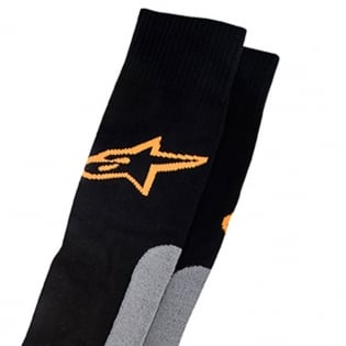 Alpinestars Pro Coolmax Socks - Black Grey Orange Image 2