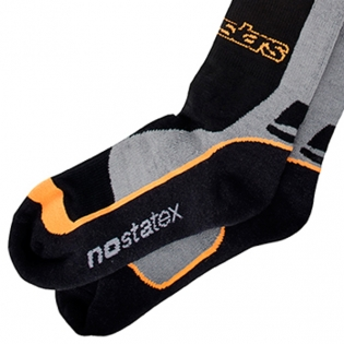 Alpinestars Pro Coolmax Socks - Black Grey Orange Image 4