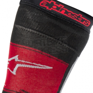 Alpinestars Knee Brace Socks - Black Red Image 2