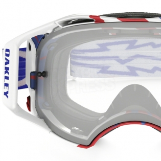 Oakley Airbrake MX Goggles - High Voltage Red White Blue Image 3