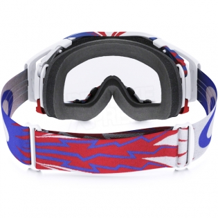 Oakley Airbrake MX Goggles - High Voltage Red White Blue Image 4