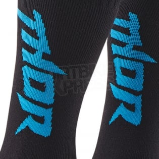 Thor Kids MX Boot Socks - Black Blue Image 2