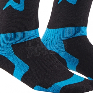 Thor Kids MX Boot Socks - Black Blue Image 4