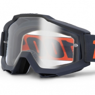 100% Accuri OTG Goggles - Gunmetal Clear Lens Image 2