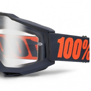 100% Accuri OTG Goggles - Gunmetal Clear Lens Image 4