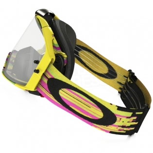 Oakley Airbrake MX Goggles - Glitch Pink Yellow Green Image 2