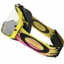 Oakley Airbrake MX Goggles - Glitch Pink Yellow Green