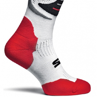 Sidi Faenza Socks - White Red Black Image 4
