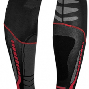 Acerbis X-Leg Pro Knee Brace Socks - Black Red Image 3