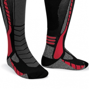 Acerbis X-Leg Pro Knee Brace Socks - Black Red Image 4