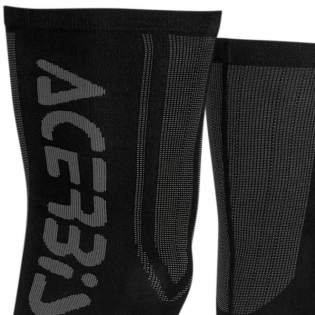 Acerbis X-Leg Pro Knee Brace Socks - Black Orange Image 2