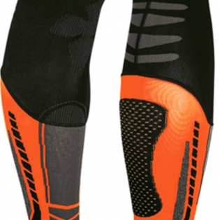 Acerbis X-Leg Pro Knee Brace Socks - Black Orange Image 3